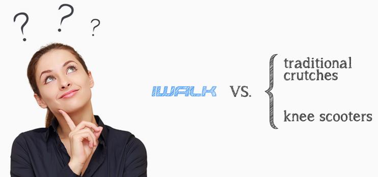 iWalfFREE hands free crutch vs. traditional crutches
