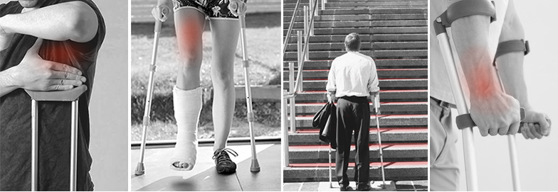 The iWalkFREE hands free crutch eliminates the pain of conventional crutches