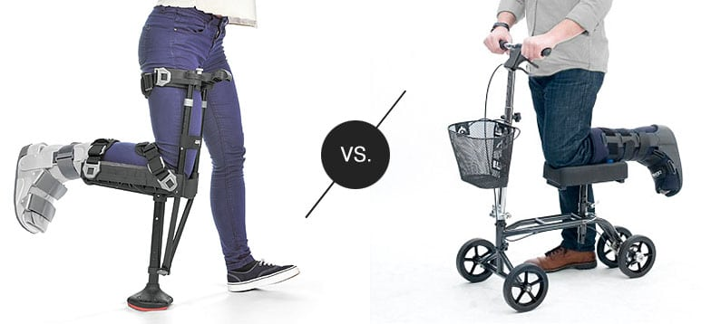 Knee Scooter vs iWALK2.0 Comparison