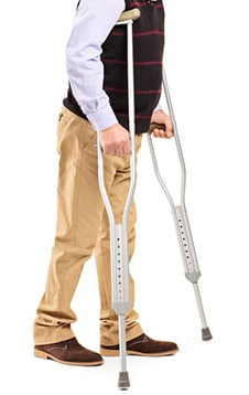 Crutches for Sprained Ankle