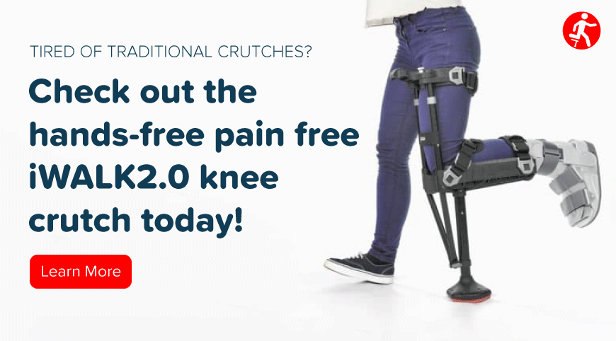 CTA - iWALK (Check out the hands-free pain free iWalk2.0 knee crutch today!)